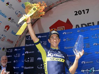 Tour Down Under: Caleb Ewan consigue el triplete y Richie Porte sigue líder