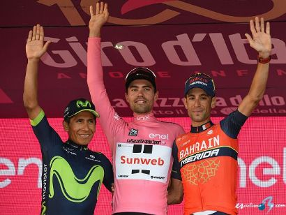 ¿Cuánto mide Nairo Quintana? - Real height Giro_italia_podio_final_2017_sirotti