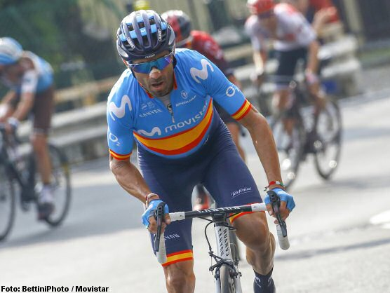 Alejandro Valverde, fined in his first outing after confinement