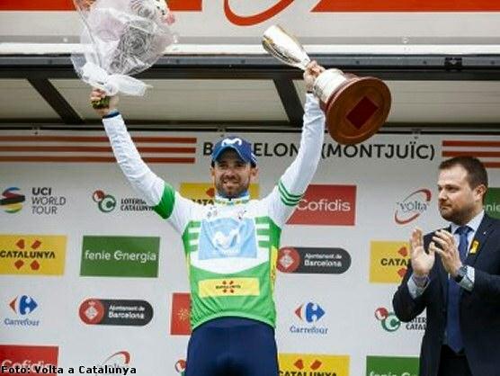 Alejandro Valverde gana su tercera Volta a Catalunya y Simon Yates la última etapa