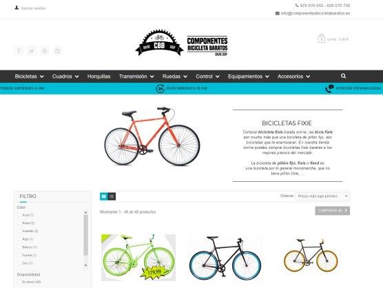 CBB Shop (Componentes Bicicleta Baratos), tu tienda online de bicicletas fixie y componentes