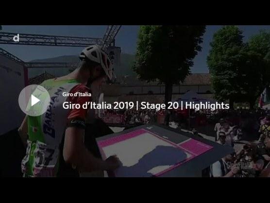 giro de italia 2019 v237deo resumen de la etapa 20