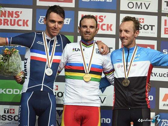 Alejandro Valverde se proclama Campeón del Mundo de ciclismo en ruta