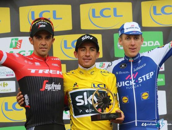 Henao gana la París-Niza pese al intento de Contador. Para De la Cruz la última etapa