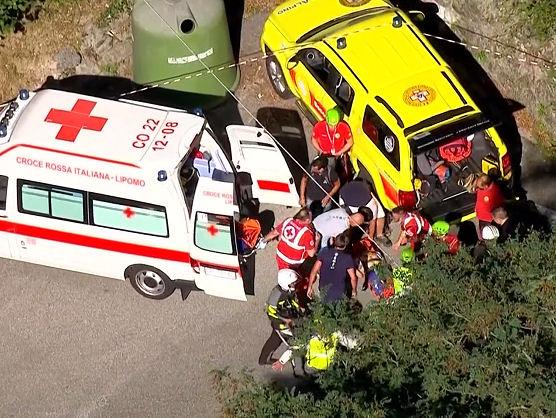 Escalofriante caída de Remco Evenepoel en el Tour de Lombardía
