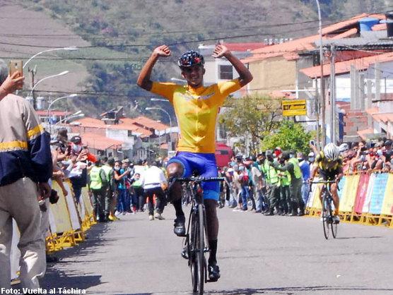 Vuelta al Táchira: Roniel Campos repite victoria en la tercera etapa