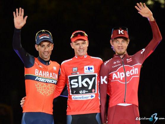 Chris Froome se alza con la Vuelta a España y Matteo Trentin gana la última etapa