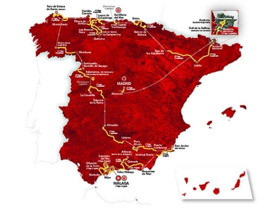 Vuelta a España: Recorrido oficial de La Vuelta 2018