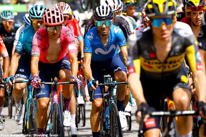 Alejandro Valverde en la fuga
