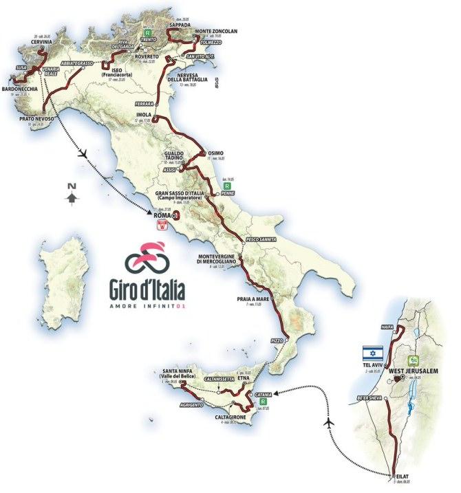 Recorrido del Giro de Italia 2018