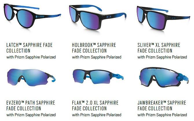 6dab7930779da Oakley lanza la colección Sapphire Fade con tecnología de lentes Prizm