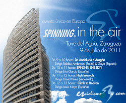 "El cielo de Zaragoza se llenará de bicicletas con ""Spinning® in the air"""