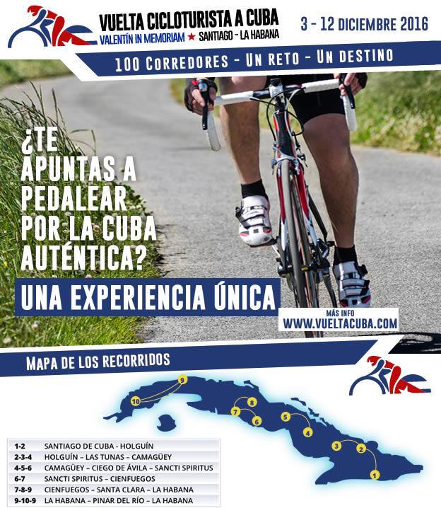 Vuelta cicloturista a Cuba 2016